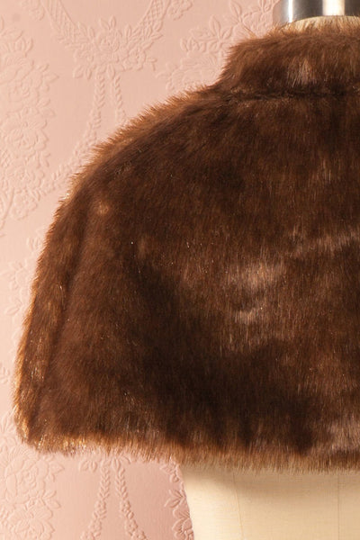 Harmonie du Soir - Brown faux-fur stole