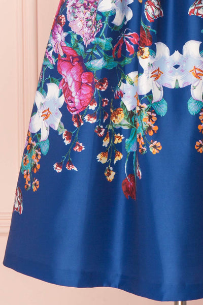 Haruka Colourful 50s Inspired Floral Cocktail Dress | Boutique 1861