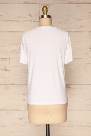 Hastings White Short Sleeved T-Shirt | La Petite Garçonne 5