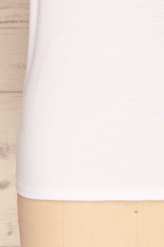 Hastings White Short Sleeved T-Shirt | La Petite Garçonne 8