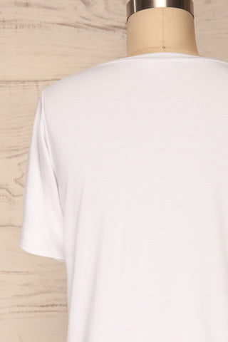Hastings White Short Sleeved T-Shirt | La Petite Garçonne 6