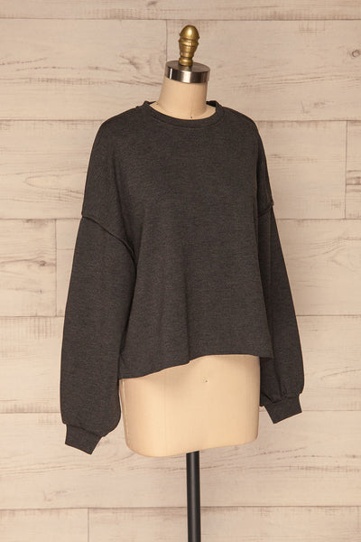 Hattem Black Oversized Sweater | La petite garçonne  side view