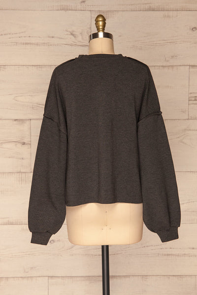 Hattem Black Oversized Sweater | La petite garçonne   back view