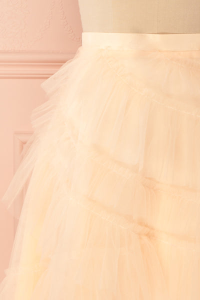 Haumea Peach Ruffled Tulle Midi Skirt | Boutique 1861 2
