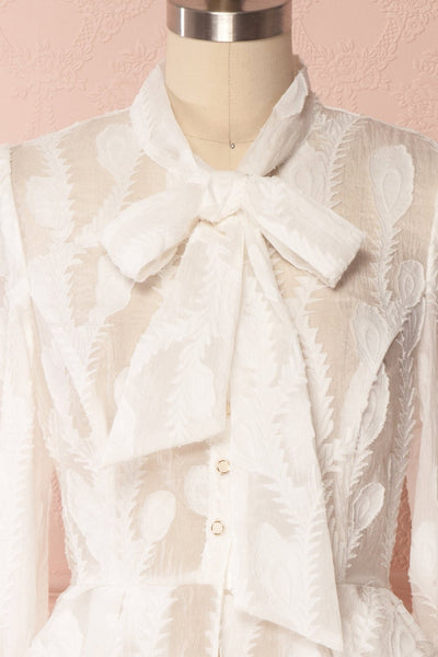 Hawaiki White Organza Blouse with Peplum | Boutique 1861 2