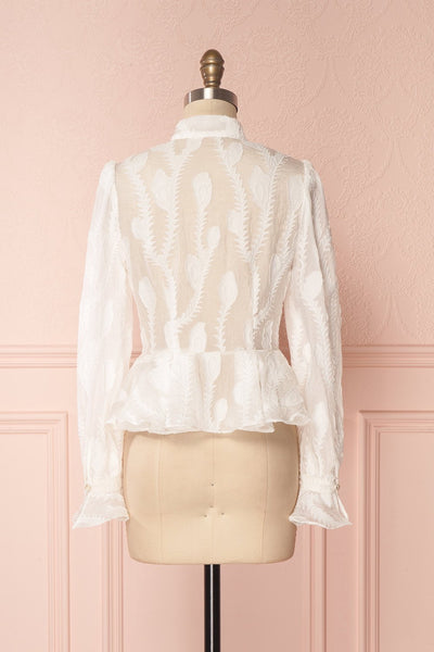 Hawaiki White Organza Blouse with Peplum | Boutique 1861 5
