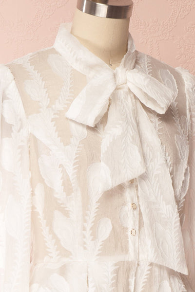 Hawaiki White Organza Blouse with Peplum | Boutique 1861 4