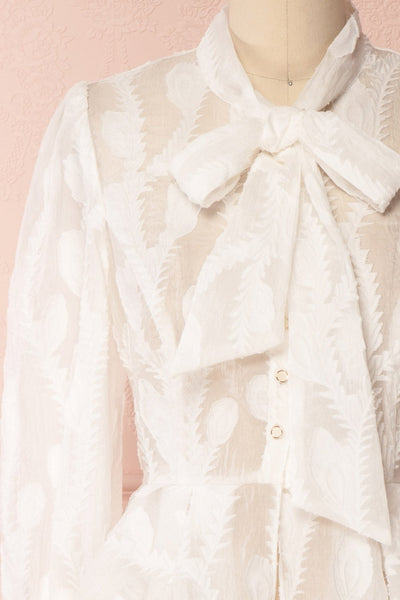 Hawaiki White Organza Blouse with Peplum | Boutique 1861 8