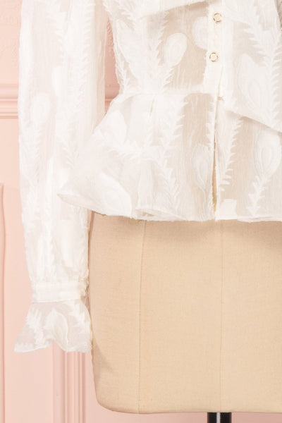 Hawaiki White Organza Blouse with Peplum | Boutique 1861 7