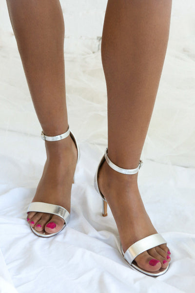 Haxo Silver | High Heeled Sandals