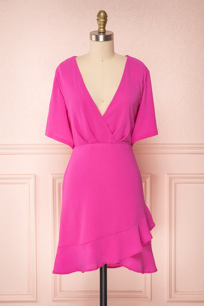Helah Berry Magenta Cocktail Dress | Boutique 1861
