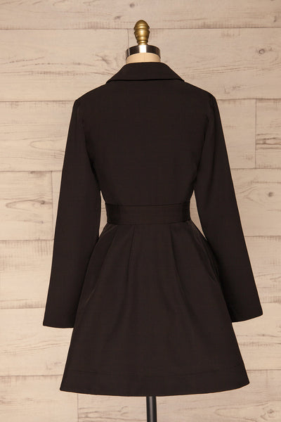 Heleentje Black Blazer Dress | Robe Blazer | La Petite Garçonne back view