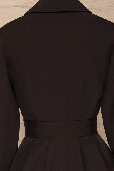 Heleentje Black Blazer Dress | Robe Blazer | La Petite Garçonne back close-up