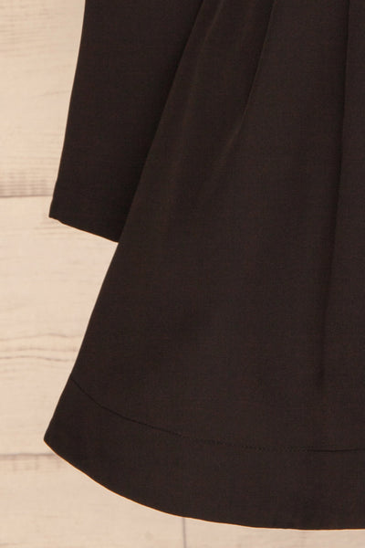 Heleentje Black Blazer Dress | Robe Blazer | La Petite Garçonne bottom close-up