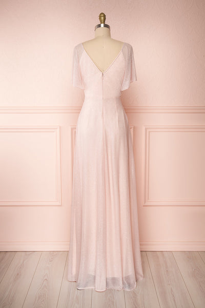 Helma Blush Pink Maxi Dress | Robe Rose | Boutique 1861 back view
