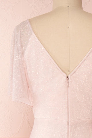Helma Blush Pink Maxi Dress | Robe Rose | Boutique 1861 back close-up