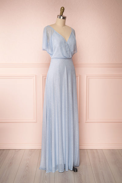 Helma Dusty Blue Maxi Dress | Robe | Boutique 1861 side view
