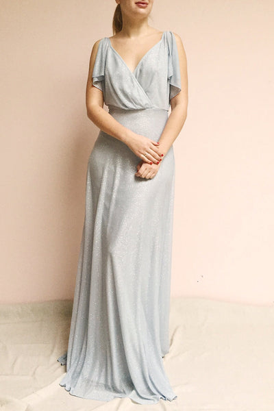 Helma Dusty Blue Maxi Dress | Robe | Boutique 1861 model look