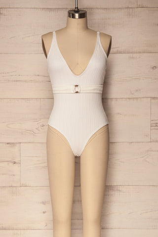 Hensies White One-Piece Swimsuit | La Petite Garçonne