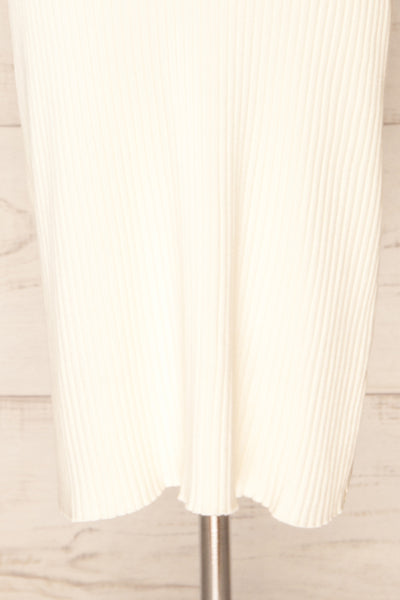 Hesses Ivory Ribbed Midi Dress | La petite garçonne bottom