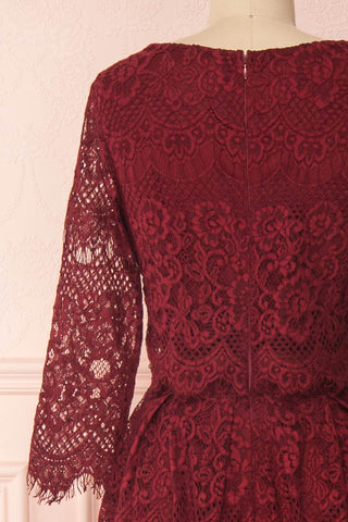 Holger Burgundy Lace A-Line Cocktail Dress | Boutique 1861 6