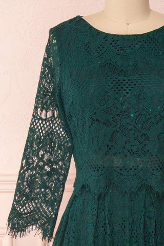 Holger Green Lace A-Line Cocktail Dress | Boutique 1861 2