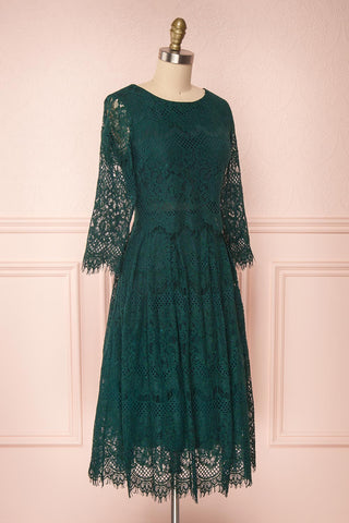 Holger Green Lace A-Line Cocktail Dress | Boutique 1861 3