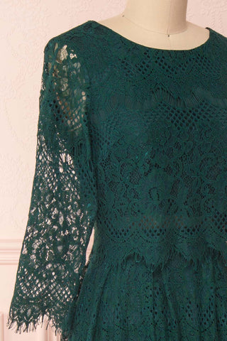 Holger Green Lace A-Line Cocktail Dress | Boutique 1861 4