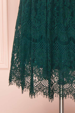 Holger Green Lace A-Line Cocktail Dress | Boutique 1861 7