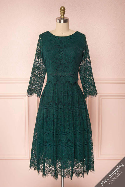 Holger Green Lace A-Line Cocktail Dress | Boutique 1861 1