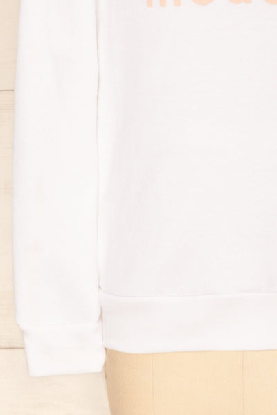 Hostka Neige Mini Kids White Sweater with Text | La Petite Garçonne