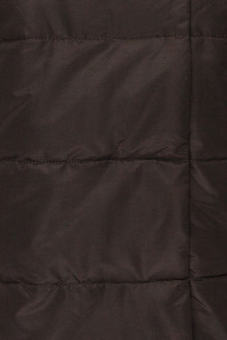 Huddersfield Black Short Quilted Coat with Hood | La Petite Garçonne fabric detail