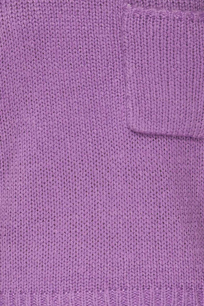 Huesca Purple Pompom Knitted Sweater | La petite garçonne fabric