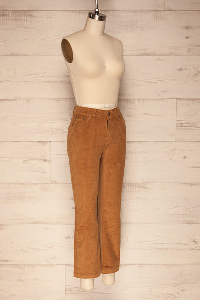 Huidai Ginger Brown Corduroy Pants | SIDE VIEW | La Petite Garçonne