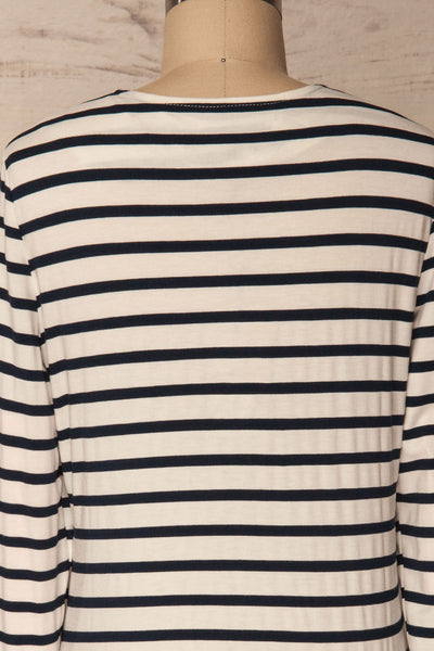 Husinec Navy Blue & White Striped Top with Bow | La Petite Garçonne 6