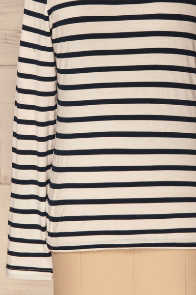 Husinec Navy Blue & White Striped Top with Bow | La Petite Garçonne 7