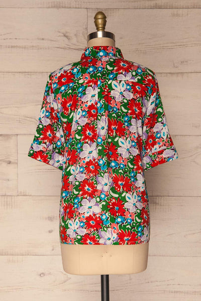 Ierissos Colourful Floral Button-Up Shirt | La Petite Garçonne 5