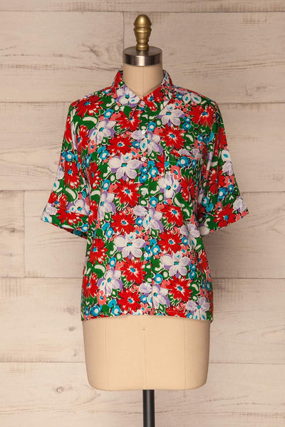 Ierissos Colourful Floral Button-Up Shirt | La Petite Garçonne 1