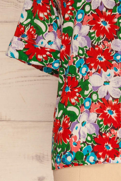 Ierissos Colourful Floral Button-Up Shirt | La Petite Garçonne 7