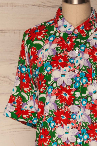 Ierissos Colourful Floral Button-Up Shirt | La Petite Garçonne 2