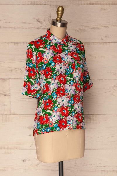 Ierissos Colourful Floral Button-Up Shirt | La Petite Garçonne 3