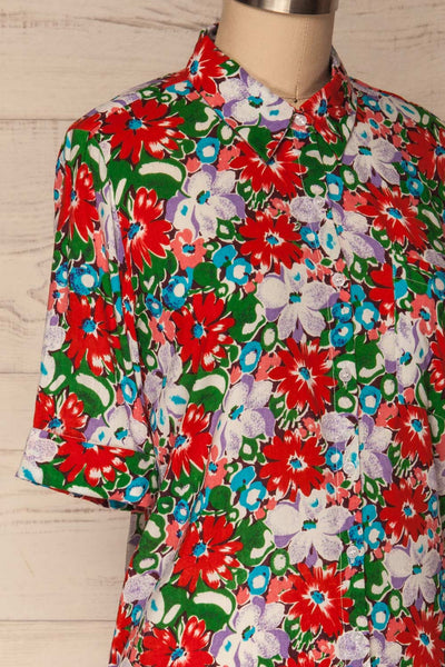 Ierissos Colourful Floral Button-Up Shirt | La Petite Garçonne 4