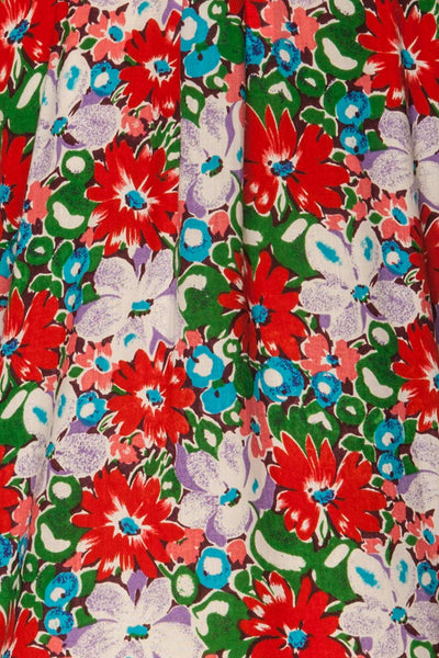 Ierissos Colourful Floral Button-Up Shirt | La Petite Garçonne 8