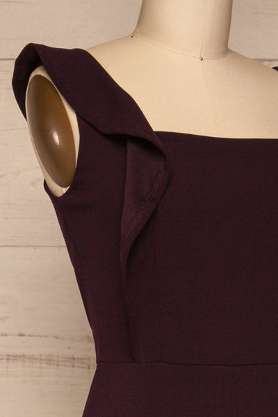Ilnes Prune Plum Jumpsuit | Combinaison | La Petite Garçonne side close-up