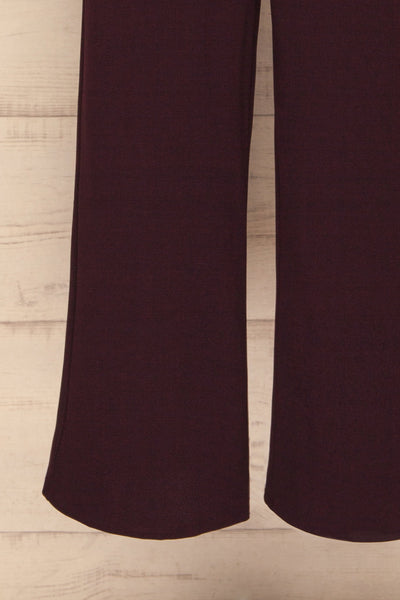 Ilnes Prune Plum Jumpsuit | Combinaison | La Petite Garçonne bottom close-up