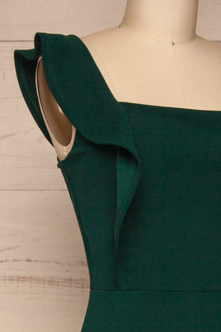 Ilnes Vert Green Jumpsuit | Combinaison | La Petite Garçonne side close-up
