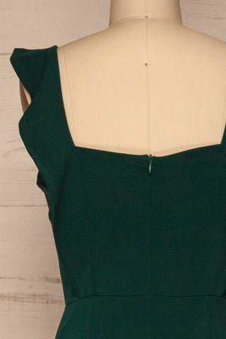 Ilnes Vert Green Jumpsuit | Combinaison | La Petite Garçonne back close-up