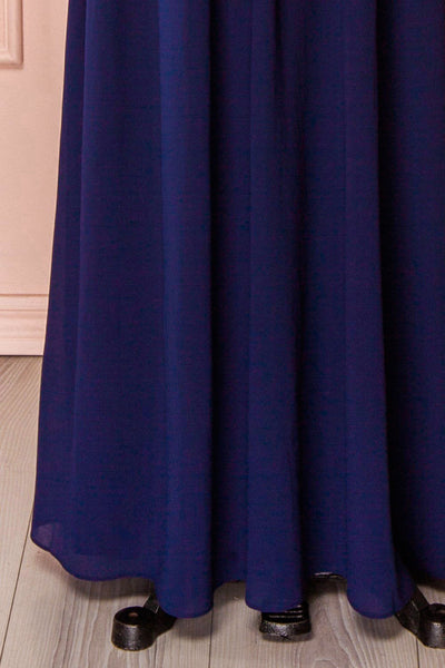 Ilsa Navy | Blue Pleated Gown