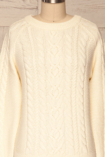 Imielin Ivory Knit Sweater front close up | La Petite Garçonne