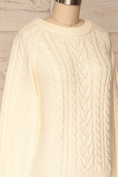 Imielin Ivory Knit Sweater side close up | La Petite Garçonne
